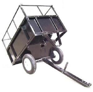 55336 Remorque Tondeuse Tracteur de jardin Poids 300kg Brouette ...