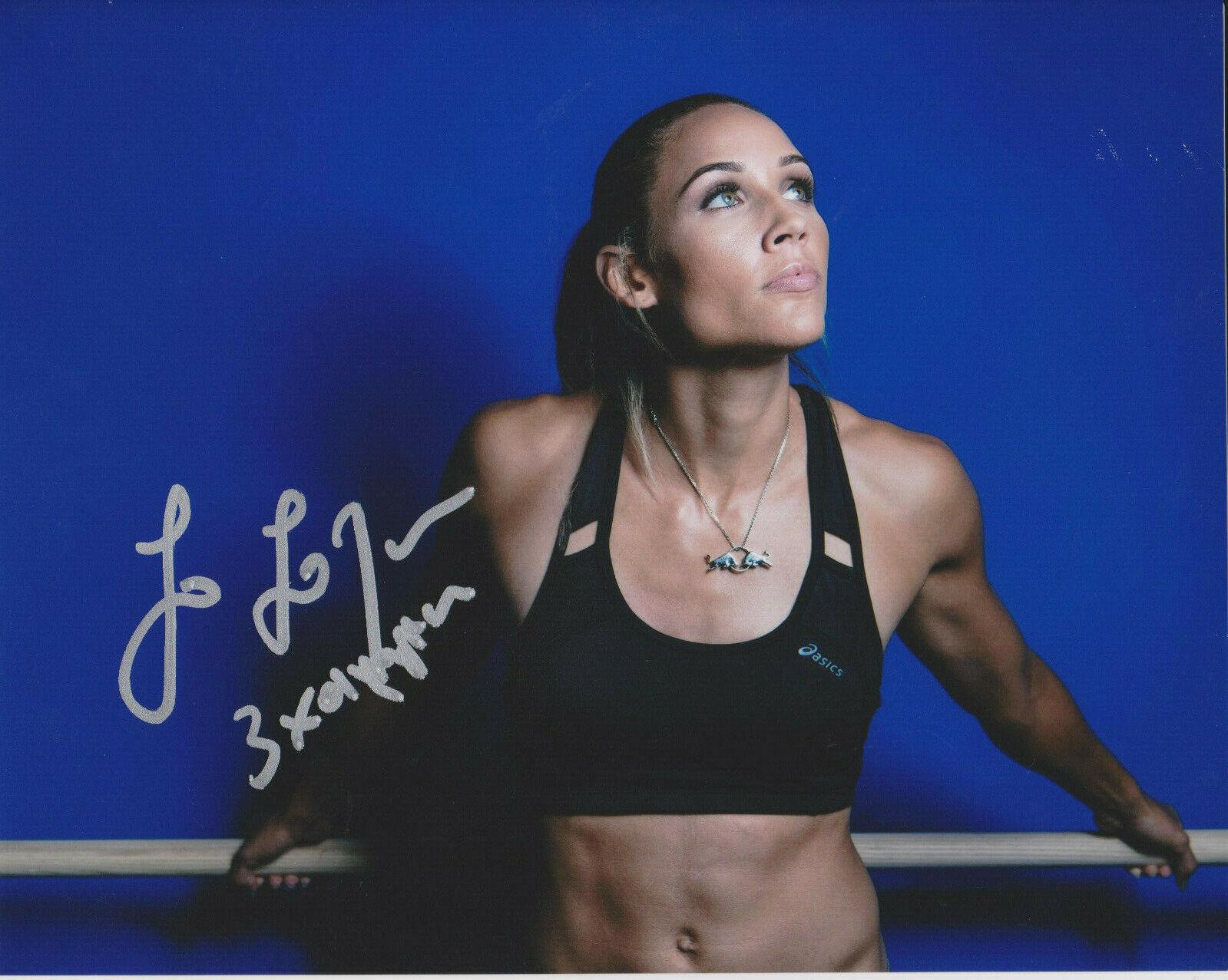 Lolo Jones Etats-Unis Olympiques Athlète Signé 8x10 Photo B