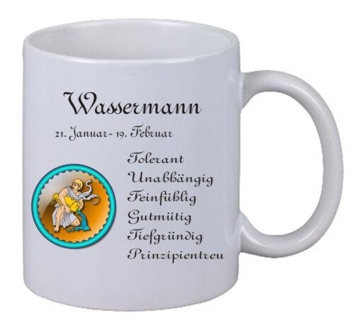 """Kaffee Tasse /""""Sternzeichen Wassermann/"""" Geschenk Weihnachten Geburtstag Familie"""