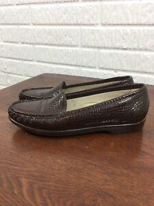 Sas 5 9 Mocassin Brown S loafers Croc Simplify Women's Maat 860xrq8S