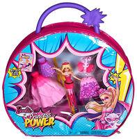 New- Barbie Princess Power Mini Doll Vinyl Bag Figure Playset Chm51 Mattel