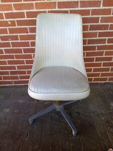 Enjoyable Details About Chromcraft 66 Mid Century Modern Chair Dining White Vinyl Swivel Retro Vintage Machost Co Dining Chair Design Ideas Machostcouk