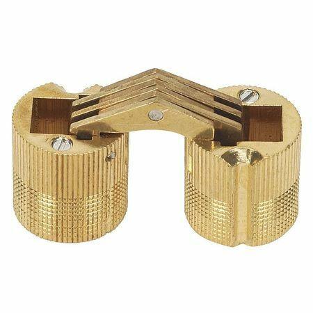 "SOSS BH104 25//64/"" W x 27//64/"" H Satin Brass Hidden Barrel Hinge"