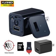 16GB HD 1080P Mini USB WALL AC Adapter US EU Plug Charger Spy camera Nanny FBI