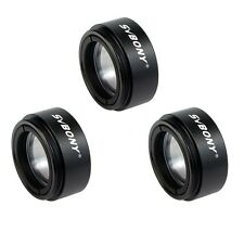 "3*1.25"" 31.7mm 0.5X Focal Reducer Thread M28x0.6 for Telescope Eyepiece Black"