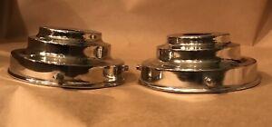 2-x-LAMP-SHADE-GALLERIES-CHROMIUM-TRIPLE-STEPPED-Art-Deco-DESIGN