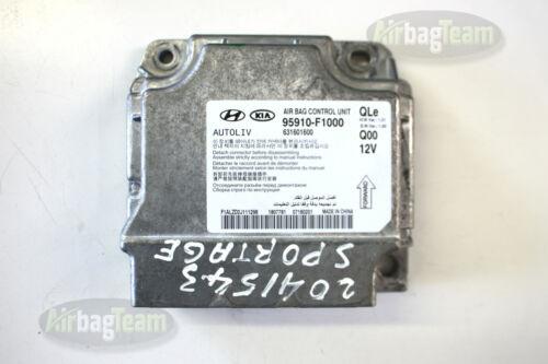 Kia Sportage Airbag ECU Control Module Sensor 95910F1000 631601600 1.01 No Crash