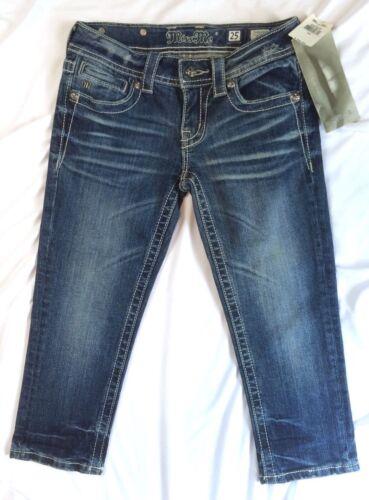 Bling Miss Stretch Wash 25 Jeans Capri Denim Beskåret Udsmykket Blue Medium Me 883364143824 wIqf4I
