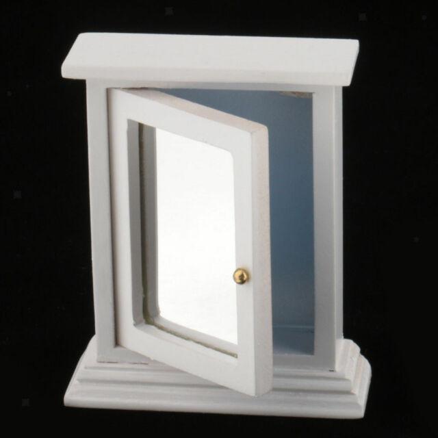1:12 Dollhouse Miniature Bedroom Furniture Dresser With Mirror 1PCS WB0023