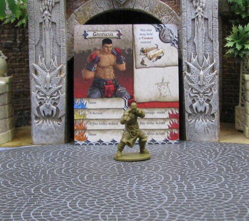 Gannicus Survivor Green Horde Zombicide CMoN boxer D/&D RPG mini 32mm Kickstarter