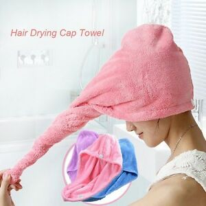 Turban Twist Dry Shower Microfiber Hair Wrap Towel Drying Bath Spa Head Cap Hat