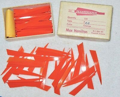 """Vintage 2-3//8/"""" *PLASTIFLETCH* AAE Archery Speed Vanes for Flight Shooting Target"""