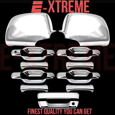 FOR GMC CANYON 04-10 CHROME 4 DOORS HANDLES COVERS W//OUT PASSENGER KEYHOLE