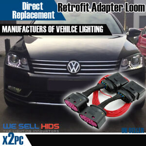passat b7 halogen to bi xenon hid headlight adapter drl. Black Bedroom Furniture Sets. Home Design Ideas