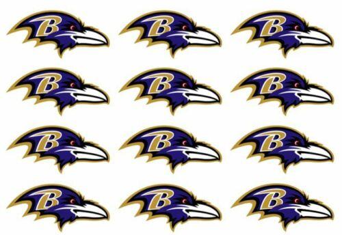 "One Dozen Baltimore Ravens Cupcake Toppers Edible Image 2/"" Frosting Circles"