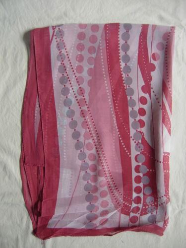 NUOVO PINK Dot Design Sciarpa Wrap rosa