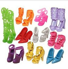 m2 LOTTO STOCK 10 PAIA SCARPE BARBIE FASHION MODA BAMBINA ACCESSORI IDEA REGALO