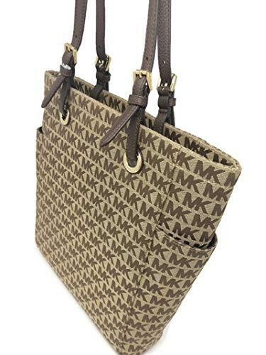 915541dcb659 Michael Kors Jet Set Item MK Signature North South Medium Tote Handbag