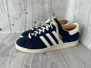 Vintage 90's Adidas Campus Suede Navy Blue Casual Trainers Shoes UK 10 / EU 44