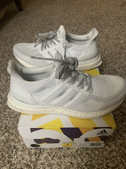 adidas Performance Men's Ultraboost Running Shoe Size 7 m US, WhiteGray