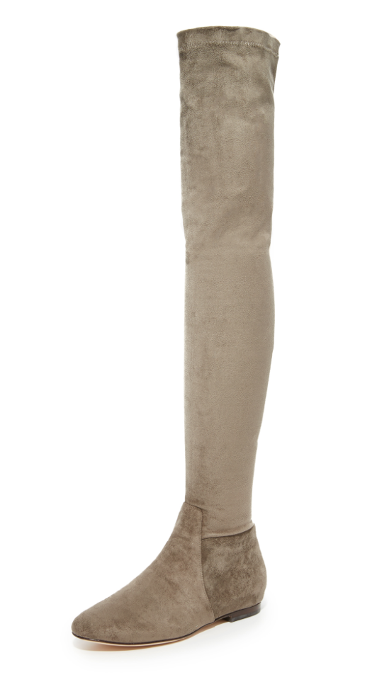 Joie Hayleigh para Mujer Sobre La Rodilla Bota Talle De Ante Gris Talle Bota 39.5 5587fb