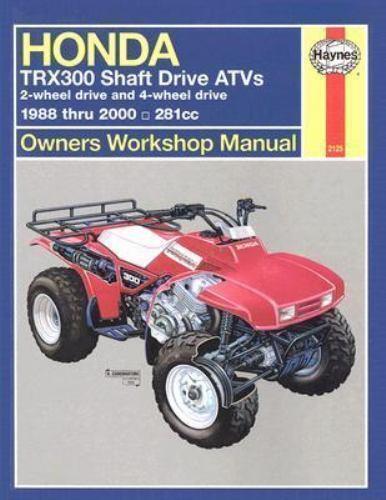 1988-2000 TRX300 Shaft Fourtrax 300//4X4 ATV Repair Service Workshop Manual 4390