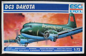 ESCI-9123-Douglas-DC-3-DAKOTA-1-72-Flugzeug-Modellbausatz-Model-Kit