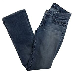 7-For-All-Mankind-Womens-Jeans-Blue-Dark-Wash-Stretch-Denim-Boot-Cut-Size-28