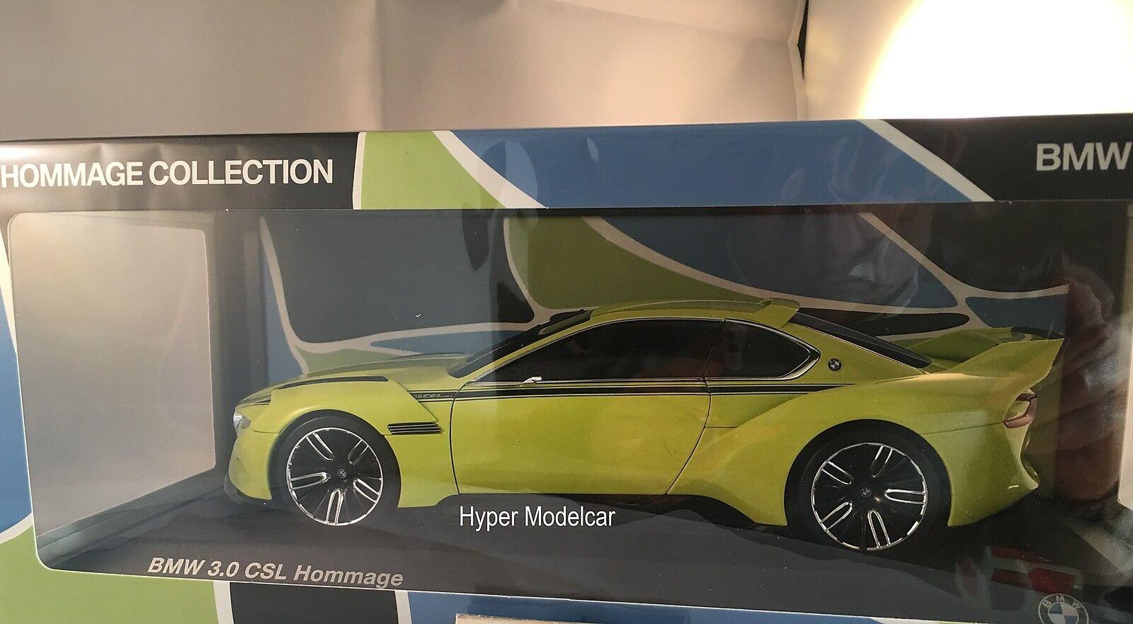 NOREV 1 18 BMW 3.0 CSL Hommage 2015 giallo Art.80432413753