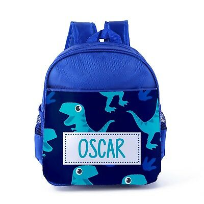 Personalised Dinosaur Backpack Kids Boys Name Reptile Back To School Bag CBP45
