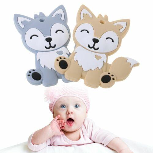 Baby Teether Food Grade Silicone Necklace DIY Fox Animal Teething Teeth Nursing