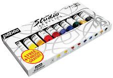 Pebeo Studio Acryl Lack Kunst & Handwerk Set 10 x 20ml Verschiedene Farben &