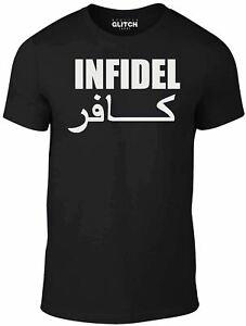 Infidel-T-Shirt-English-t-shirt-retro-cool-military-funny-slogan-joke-gift-tee