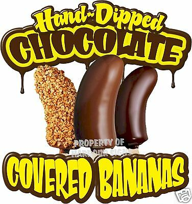 Choose a Size Concession Food Truck Sticker Banana Chocolate Dipped DECAL