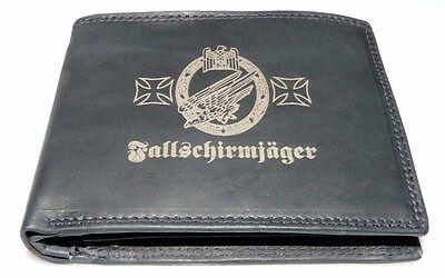 Fallschirmjäger Leder Geldbörse Deutsches Reich 2 1 Wk Wehrmacht Uniform Foto GläNzende OberfläChe
