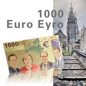 Wr 1000 Euro In Farbe Goldfoilbanknote Schein Banknote Schoner Zustand Ebay