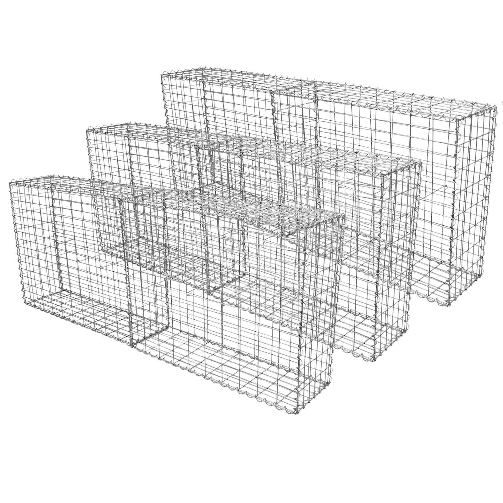 6 Cestas de Acero Inoxidable de Exterior Jaulas para Decoración 100 x 80 x 30cm
