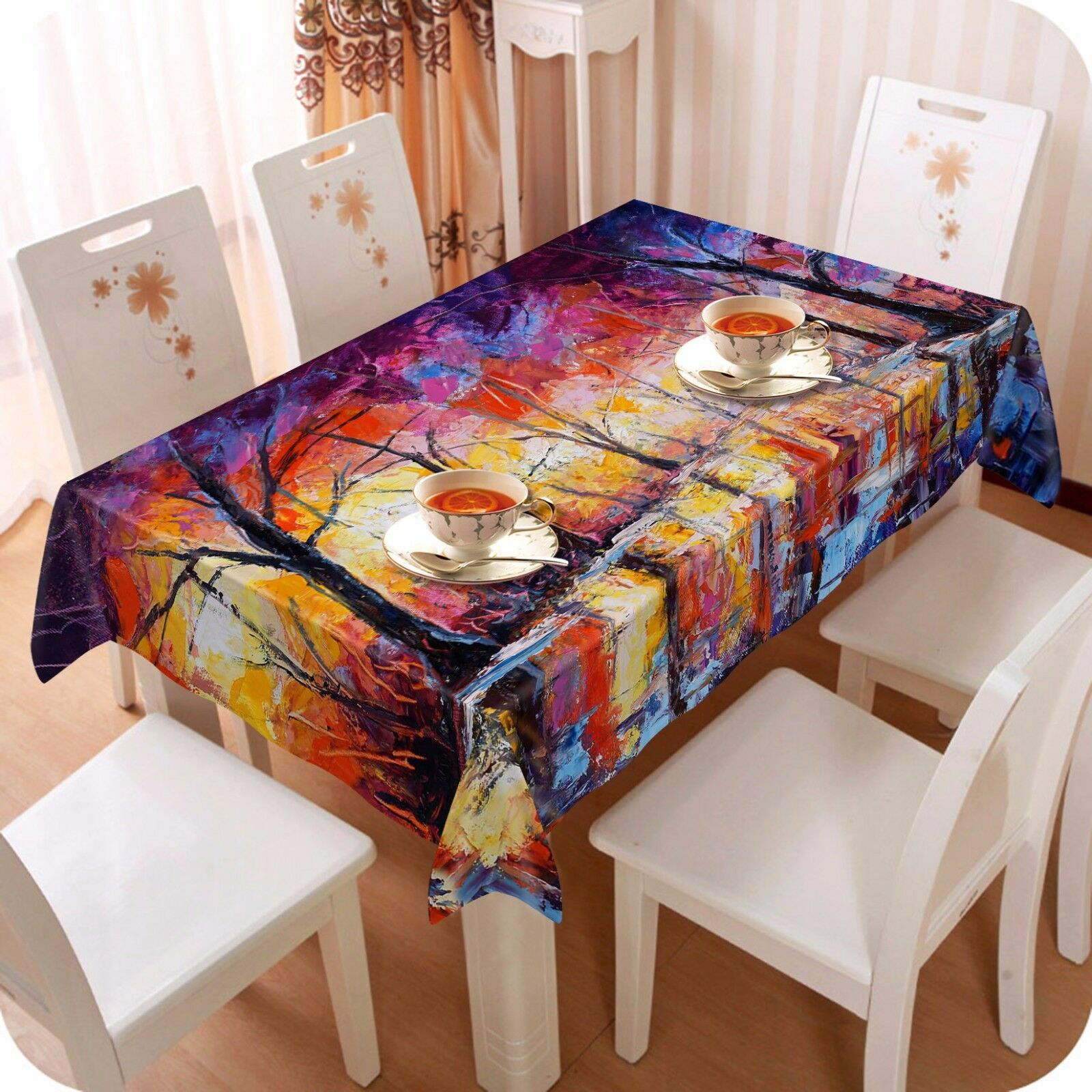 3D rouge tree738 Tablecloth Table Cover Cloth Birthday Party Event AJ WALLPAPER AU