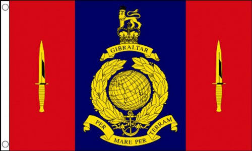 5/' x 3/' Royal Marine 45 Commando Flag Armed Forces Army Navy Marines Banner