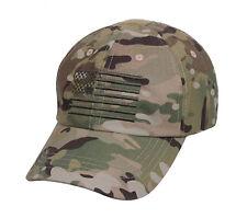 Multicam tactical operator cap with US Flag camo army baseball hat ball cap