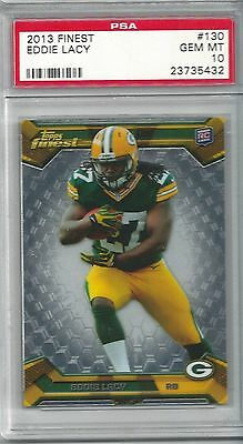 PSA 10 2013 13 Topps Finest EDDIE LACY RC Rookie #130 Graded Gem Mint