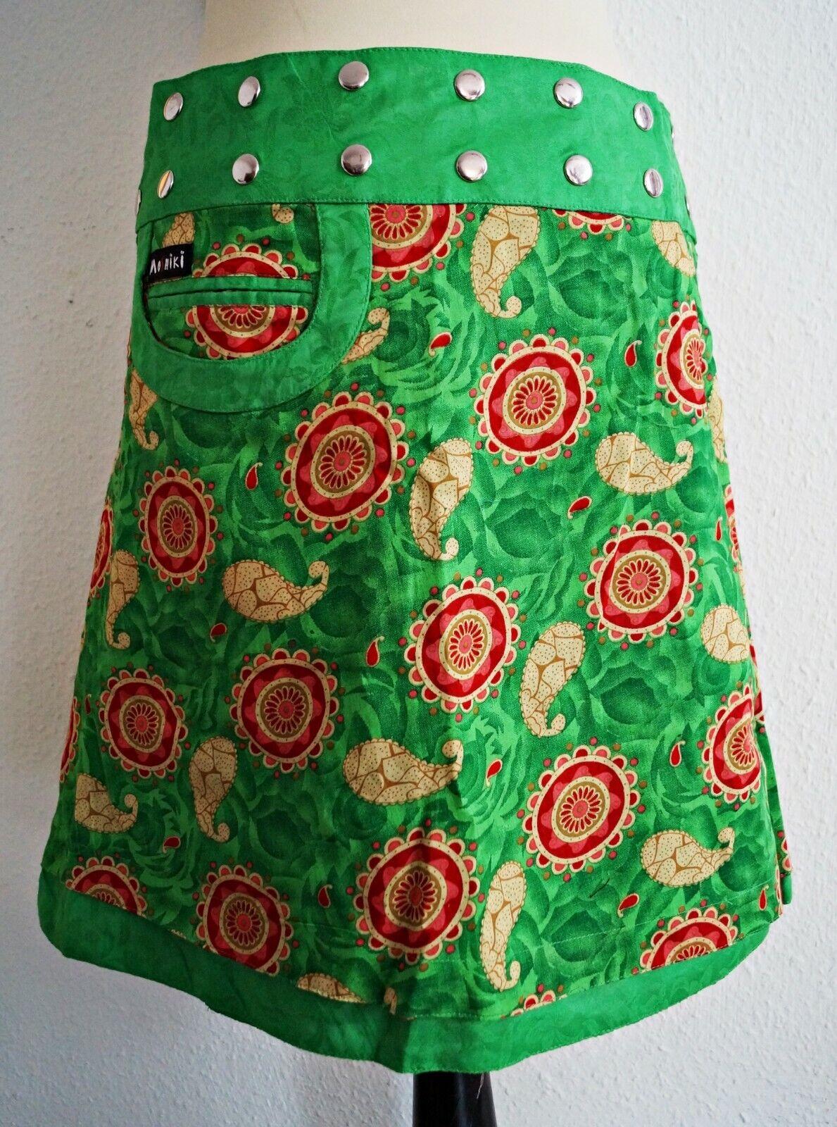 411 MOSHIKI jupe portefeuille wenderock XXL Coton Grün rot Größe 48 - 56