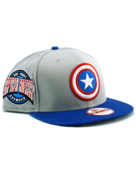 09d8d548b New Era Captain America 9fifty Snapback Hat Adjustable Cap First Avenger  Marvel