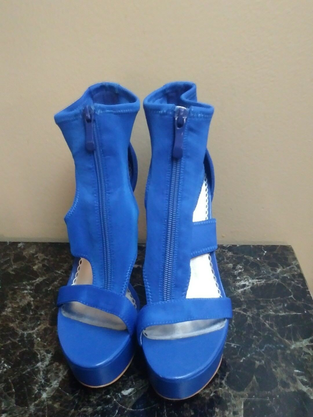Bebe shigh heel stiletto in a beautiful blue royal blue beautiful 7M 824bee
