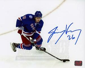 Jimmy Vesey New York Rangers Signed Autographed Home Action 8x10 H