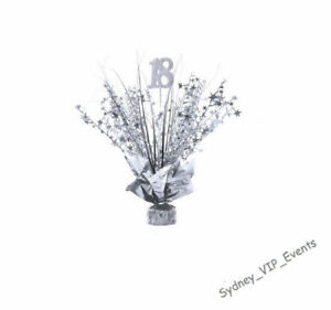 18TH BIRTHDAY PARTY SILVER SPRAY TABLE CENTREPIECE DECORATION  BALLOON WEIGHT