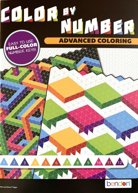 Advanced Coloring Color By Number Adult Activity Book Stress Hg11 For Sale  Online EBay