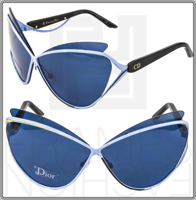 051b168cf49 CHRISTIAN DIOR AUDACIEUSE 1 Black Gold Blue Cat Eye Sunglasses 4CBKU Women