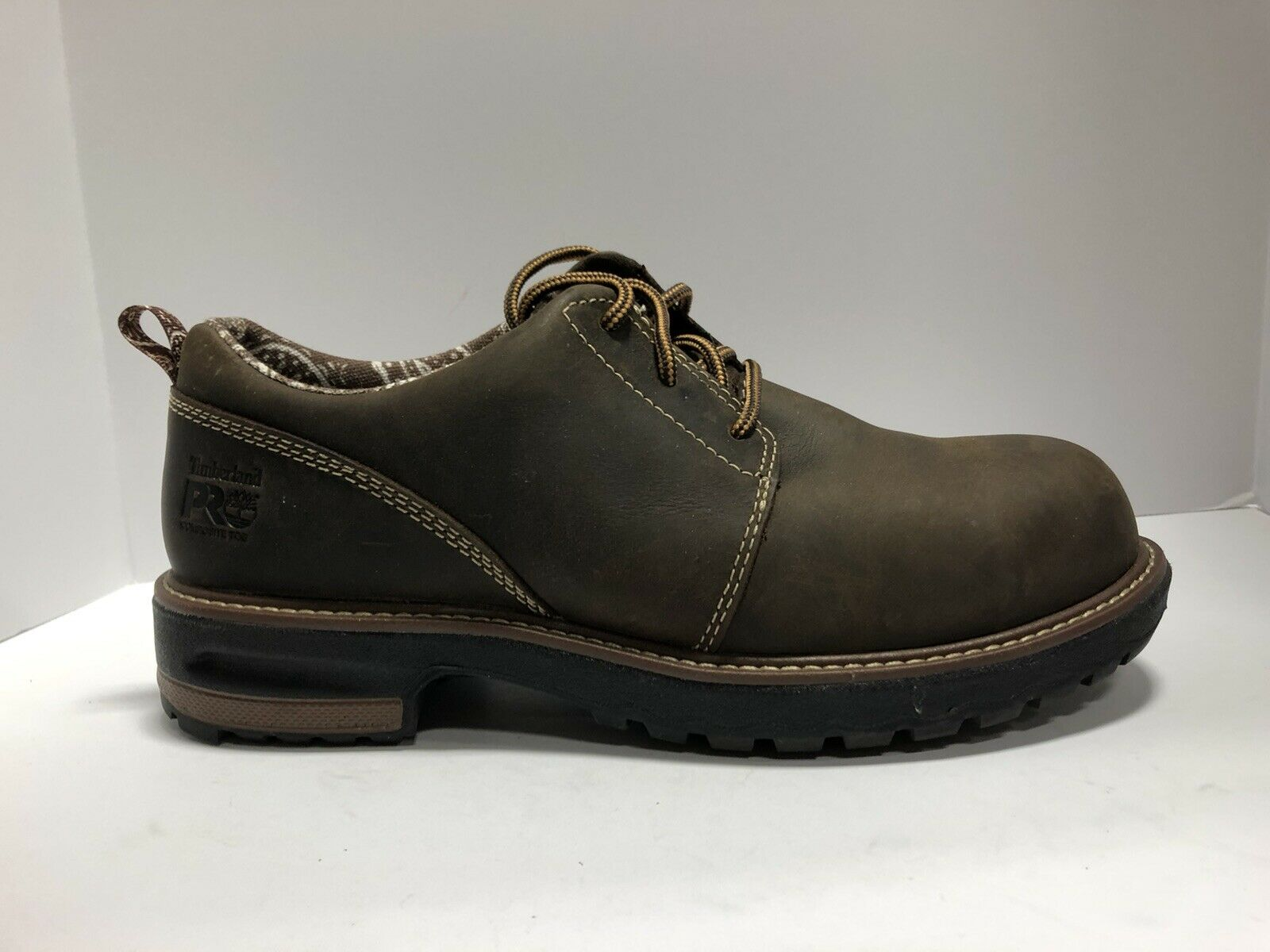 Timberland Pro Hightower Womens Oxford Brown Leather Size 9.5 M
