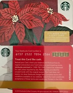 Image is loading 2018-STARBUCKS-CHRISTMAS-034-POINSETTIA-034-GIFT-CARD-